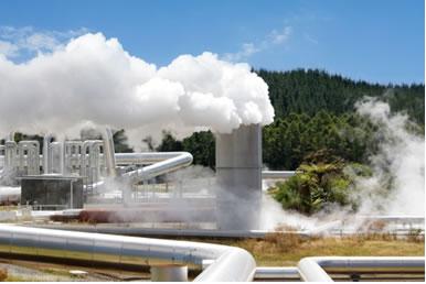 Estação de usina geotérmica