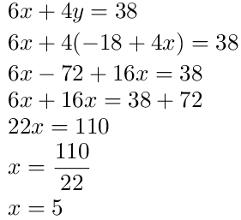 Valor numérico de x no segundo exemplo