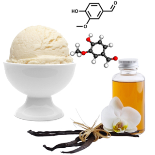 A vanila é um aldeído extraído da orquídea Vanilla planifólia e é a essência de baunilha