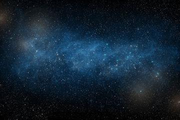 Conjunto de estrelas que formam a Via Láctea