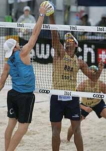 O vôlei de praia passou a integrar o programa dos Jogos Olímpicos em 1996