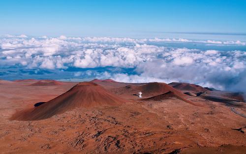 No arquipélago do Havaí, há uma grande quantidade de vulcões ativos e extintos