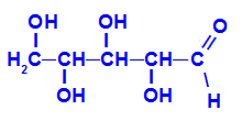 Fórmula estrutural da xilose