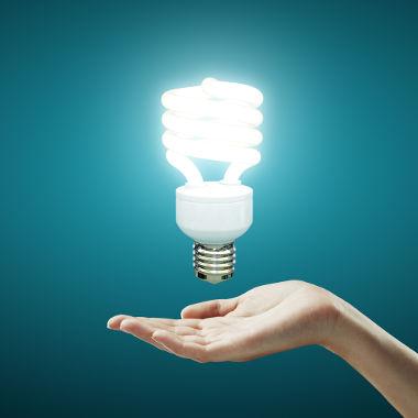 As lâmpadas fluorescentes funcionam a partir da ionização de gases