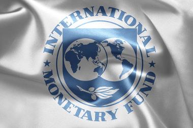 Bandeira com a logomarca do FMI
