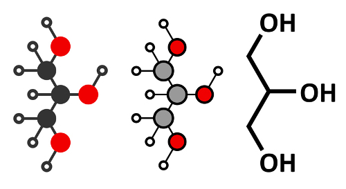 Glicerol é um exemplo de molécula orgânica polar