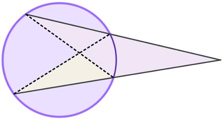 A relação entre segmentos secantes na circunferência e triângulos formados por eles é de proporcionalidade