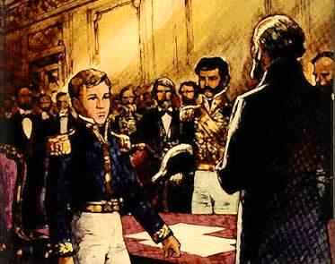 A chegada de Dom Pedro II ao trono visava dar fim às instabilidades do período regencial.