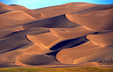 As dunas podem formar um belo cenário na paisagem
