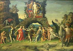 O Parnaso (séc. XV), de Andrea Mantegna, obra do Renascimento italiano