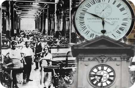 Fábricas e o tempo do relógio