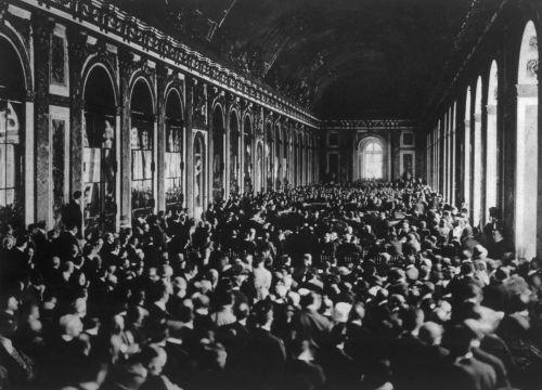 Rol do Palácio de Versalhes à época da assinatura do tratado