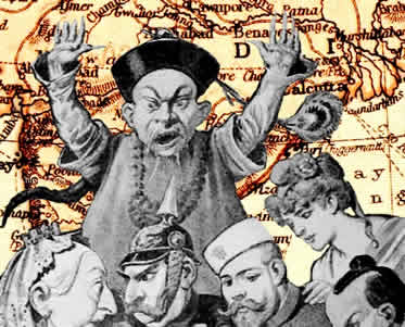 A ação imperialista na Ásia contou com a participação de várias potências econômicas.