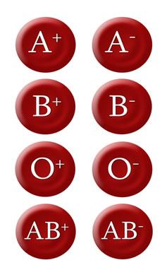 O sinal de (+) ou (-) ao lado do tipo sanguíneo representa o fator Rh