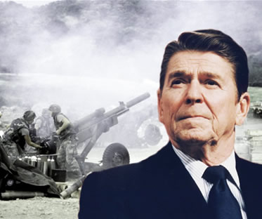 Intervencionismo político-militar e o governo Reagan: facetas dos EUA ao longo da década de 1980.