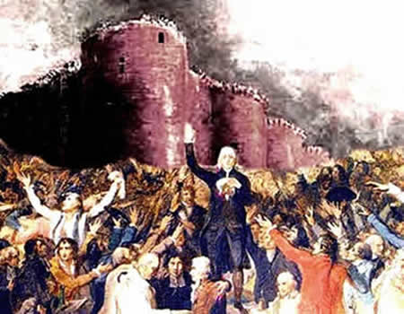 A reunião no Salão da Péla e a Queda da Bastilha: dois momentos cruciais da Revolução Francesa.