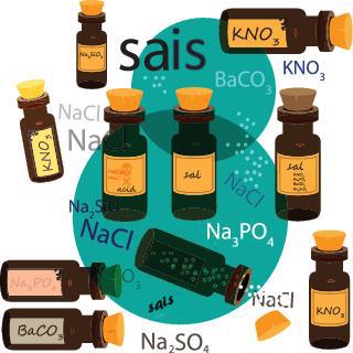 Existem vários tipos de sais inorgânicos que precisam ser classificados em grupos específicos para serem estudados