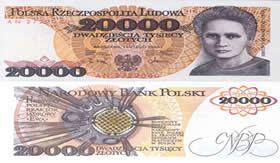 Marie Curie estampada em moeda internacional.