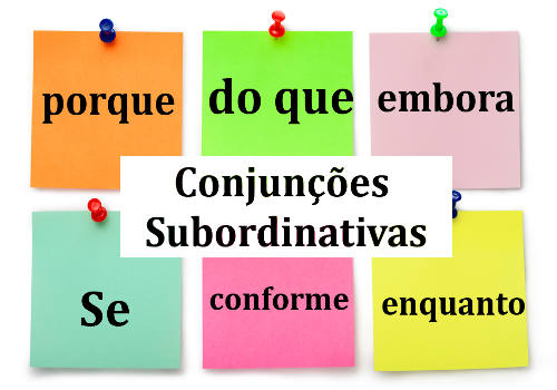 As conjunções subordinativas podem ter diferentes classificações