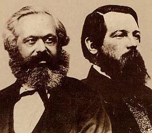 Karl Marx e Friedrich Engels, criadores do socialismo científico.