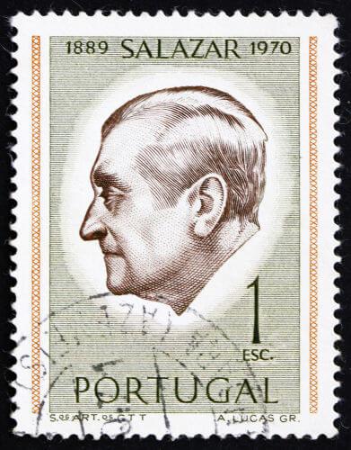 António Salazar foi o líder da ditadura conhecida como Estado Novo. Governou Portugal, de 1933 a 1968, e foi afastado por problemas de saúde.*