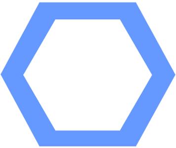 O hexágono regular é um exemplo de polígono