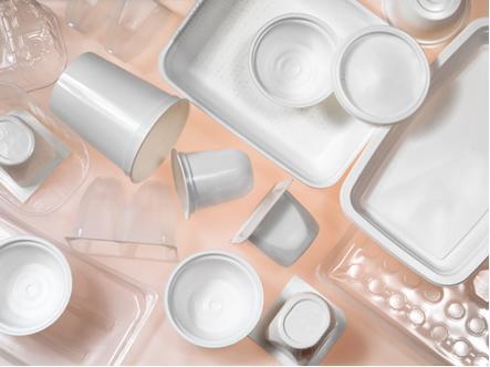 Recipientes de plástico feitos de poliestireno