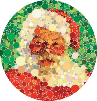 Você consegue enxergar o Papai Noel nessa imagem? Se sim, você não é daltônico
