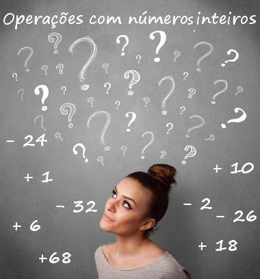 Todos os números positivos, negativos e o zero pertencem aos conjunto dos números inteiros