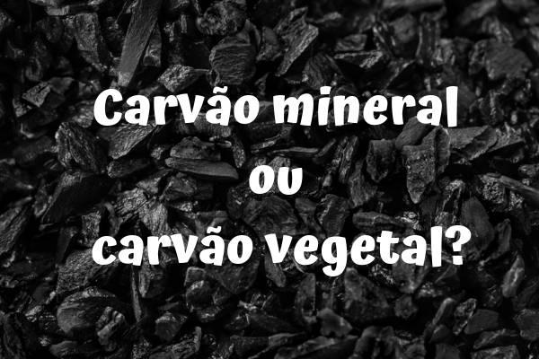 Podemos encontrar dois tipos de carvão formados por processos diferentes: o carvão mineral e o carvão vegetal