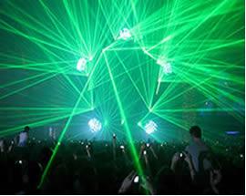 Laser utilizado em festas e boates.