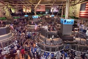 Nas bolsas de valores acontece um grande fluxo de capitais.