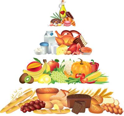 As pirâmides alimentares são diferentes em cada país, pois adotam a realidade de seu povo