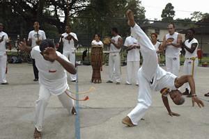 Prática da capoeira