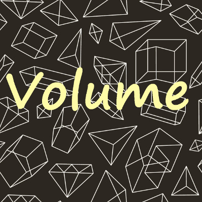 Cada tipo de sólido possui uma fórmula para o cálculo de seu volume