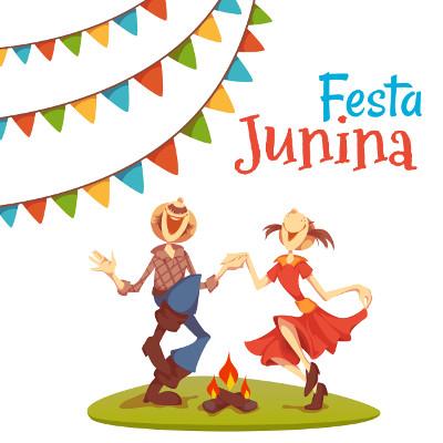 As festas juninas são comemoradas no mês de junho e têm uma relação direta com o catolicismo popular