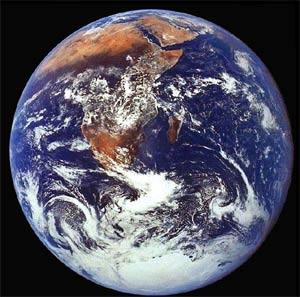 Terra, único planeta que possui vida.