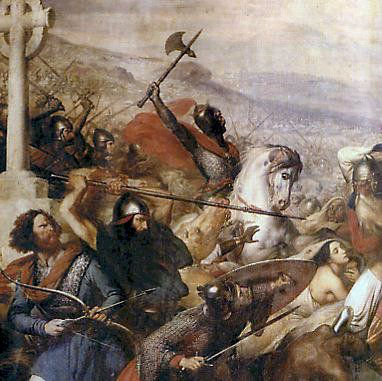 A Batalha de Poitiers ocorreu em 732