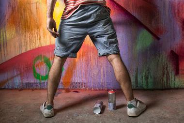 O grafite é visto, por muitos, como um ato de delinquência.