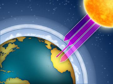 A camada de ozônio protege os seres vivos dos efeitos nocivos dos raios ultravioleta