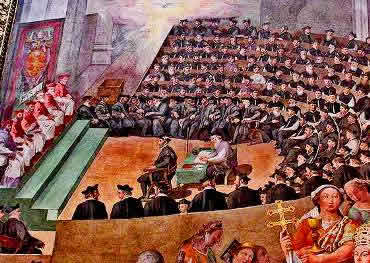 O Concílio de Trento reformulou as posições da Igreja Católica frente ao avanço protestante.