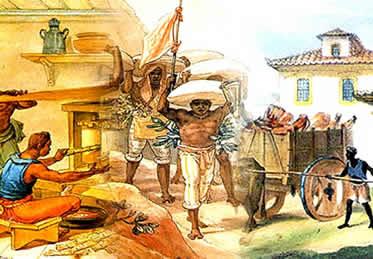 Os escravos estiveram presentes em diferentes funções e contextos sociais ao longo da história brasileira.