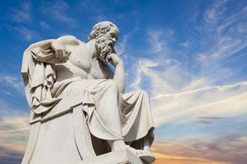 Sócrates, patrono da Filosofia.