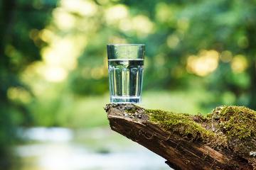 A água própria para o consumo é doce e potável