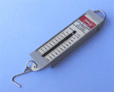 Dinamômetro de mola usado no dia a dia