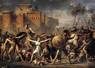A intervenção das Sabinas, obra de Jacques-Louis David (1748-1825) referente à lenda presente nas origens de Roma
