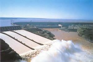 Usina hidrelétrica de Itaipu.