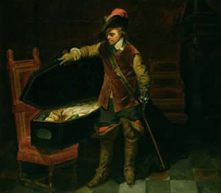 Oliver Cromwell e Carlos I morto, tela de Paul Delaroche (1797-1856)
