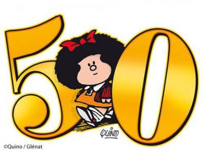 Em 2014, a personagem Mafalda, de Quino, completa meio século de existência. As tirinhas começaram a ser publicadas no ano de 1964, na Argentina *