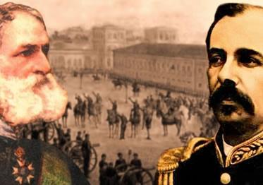 Deodoro da Fonseca e Floriano Peixoto: os presidentes militares que consolidaram a República.